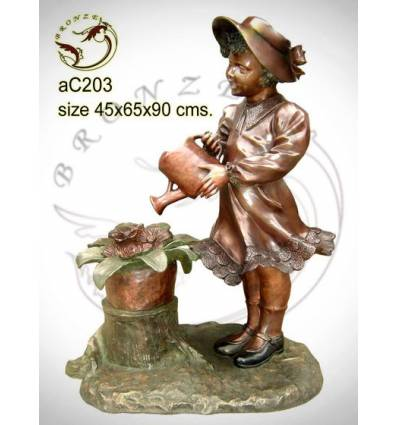 Sculpture bronze enfant ac203-100