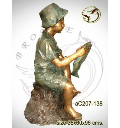 Sculpture bronze enfant ac207-138