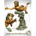 Sculpture bronze enfant ac209-100