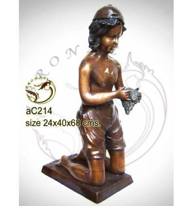 Sculpture bronze enfant ac214-100