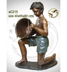 Sculpture bronze enfant ac215-100