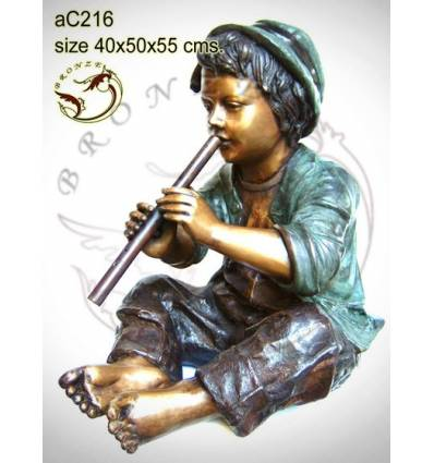 Sculpture bronze enfant ac216-100