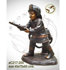 Sculpture bronze enfant ac217-200