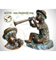 Sculpture bronze enfant ac219-100