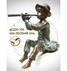Sculpture bronze enfant ac220-100