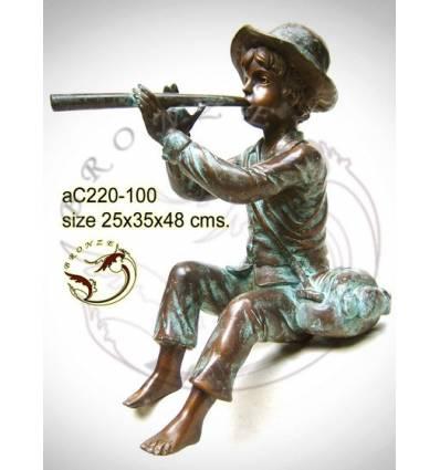 Sculpture bronze enfant ac220-100