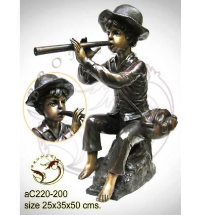 Sculpture bronze enfant ac220-200