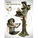Sculpture bronze enfant ac222-100