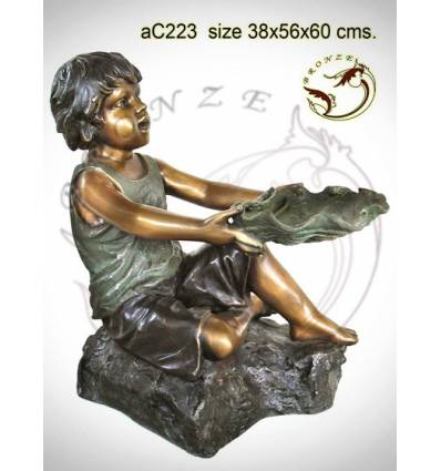 Sculpture bronze enfant ac223-100