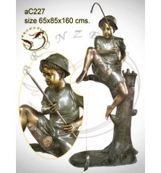Sculpture bronze enfant ac227-100
