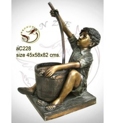 Sculpture bronze enfant ac228-100