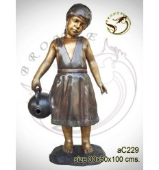 Sculpture bronze enfant ac229-100
