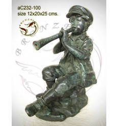 Sculpture bronze enfant ac232-100