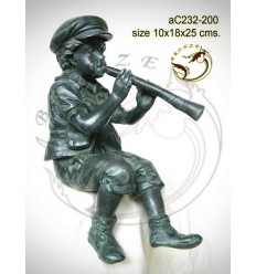Sculpture bronze enfant ac232-200