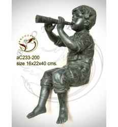 Sculpture bronze enfant ac233-200