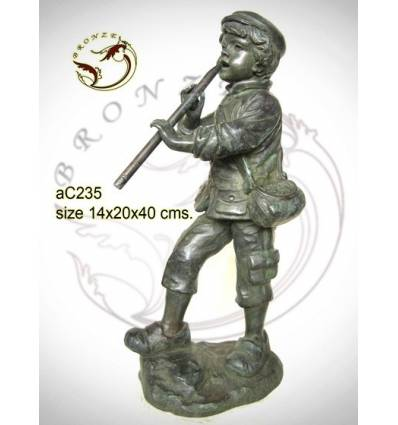 Sculpture bronze enfant ac235-100
