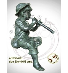 Sculpture bronze enfant ac236-200