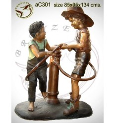 Sculpture bronze enfant ac301-100