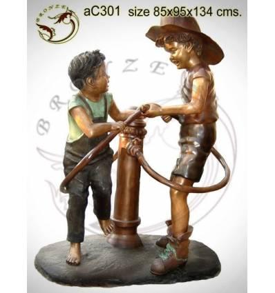 Sculpture bronze enfant ac301-100