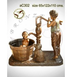 Sculpture bronze enfant ac302-100