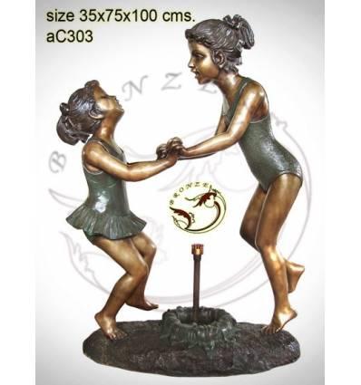 Sculpture bronze enfant ac303-100