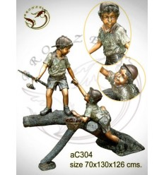 Sculpture bronze enfant ac304-100