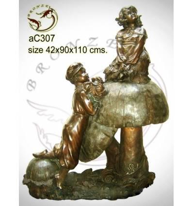 Sculpture bronze enfant ac307-100