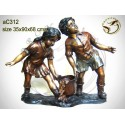 Sculpture bronze enfant ac312-100