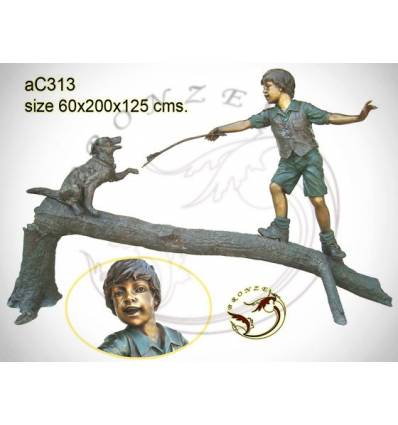 Sculpture bronze enfant ac313-100