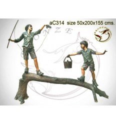 Sculpture bronze enfant ac314-100