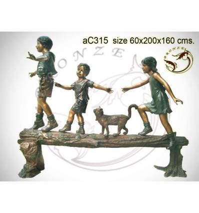 Sculpture bronze enfant ac315-100