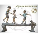 Sculpture bronze enfant ac316-100