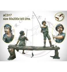 Sculpture bronze enfant ac317-100