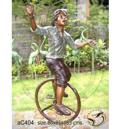 Sculpture bronze enfant ac404-100