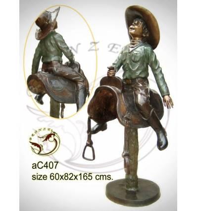 Sculpture bronze enfant ac407-100