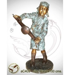 Sculpture bronze enfant ac409-100