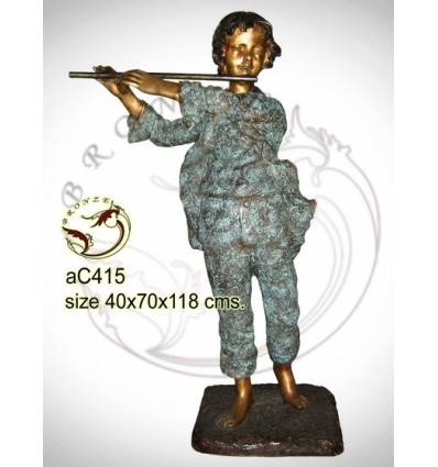 Sculpture bronze enfant ac415-100