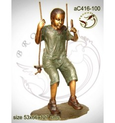 Sculpture bronze enfant ac416-100