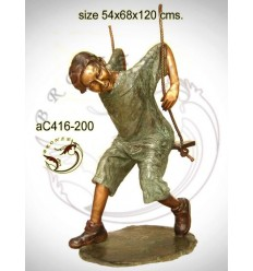 Sculpture bronze enfant ac416-200
