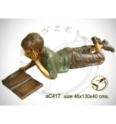 Sculpture bronze enfant ac417-100