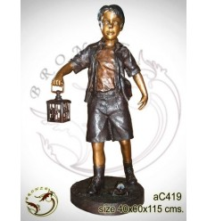 Sculpture bronze enfant ac419-100