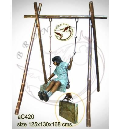 Sculpture bronze enfant ac420-100