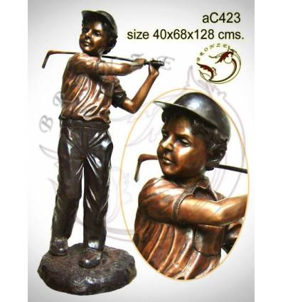 Sculpture bronze enfant ac423-100