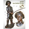 Sculpture bronze enfant ac424-100