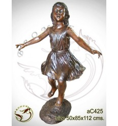 Sculpture bronze enfant ac425-100