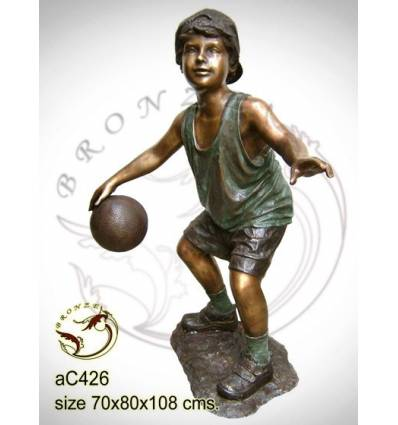 Sculpture bronze enfant ac426-100