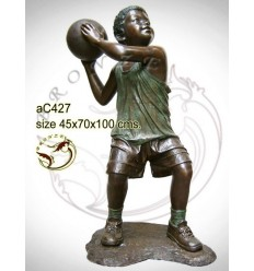 Sculpture bronze enfant ac427-100