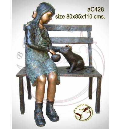 Sculpture bronze enfant ac428-100