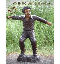 Sculpture bronze enfant ac429-100