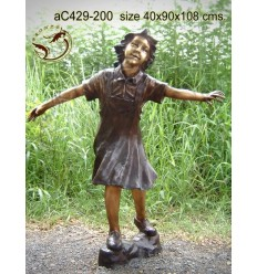 Sculpture bronze enfant ac429-200